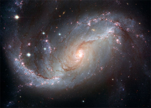 Hubble image of spiral galaxy NGC 1672