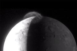 image of Io erupting