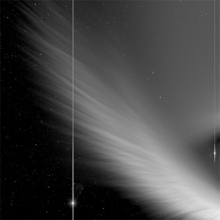 Picture of Comet McNaught from NASA's STEREO spacecraft