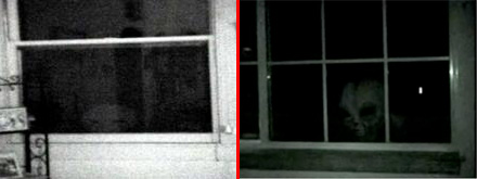 Stills from the purported alien footage and the hoax