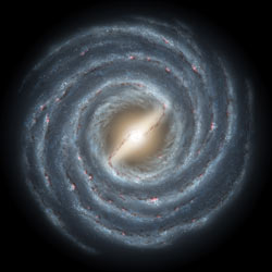 Illustration of the Milky Way's bar