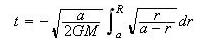 equation for freefall time