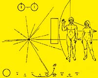 image of Pioneer plaque