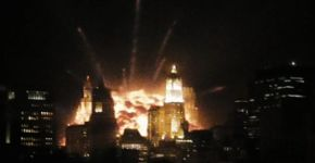 Image of the explosion from Cloverfield